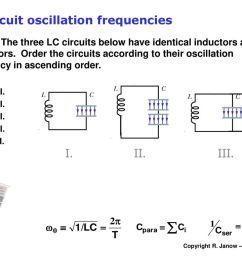 lc circuit oscillation frequencies [ 1024 x 768 Pixel ]
