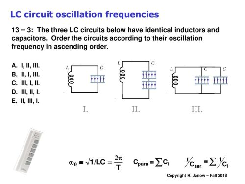 small resolution of lc circuit oscillation frequencies