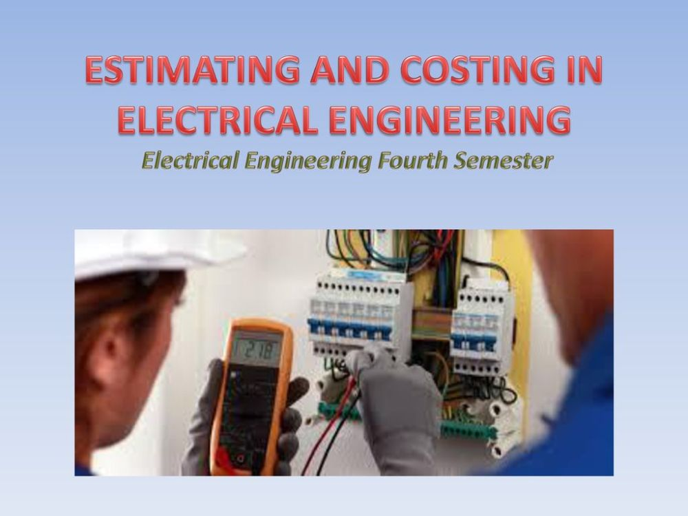 medium resolution of 1 estimating and costing in electrical