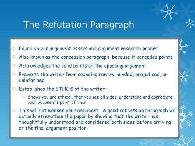 How to Write a Refutation Paragraph - ppt download