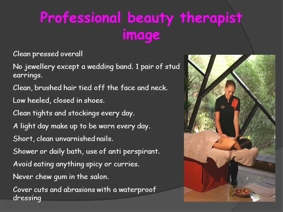 Presenting a Professional Image in a salon  ppt video online download
