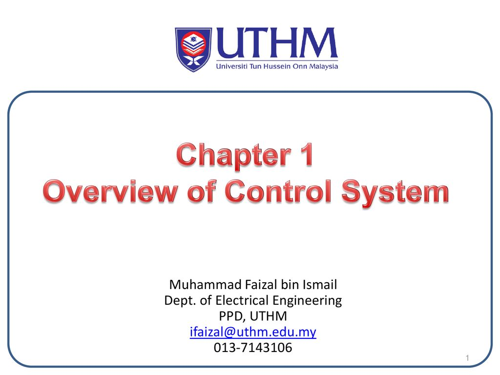 hight resolution of overview of control system
