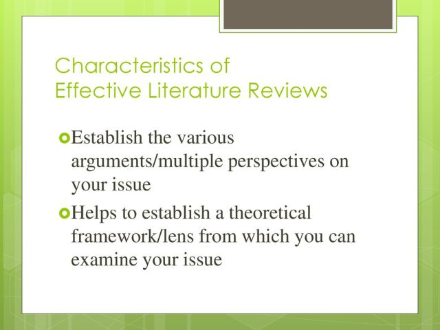 Strategies for Writing Literature Reviews - ppt download