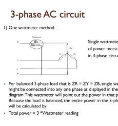 3 phase ac circuit 1 one wattmeter method single wattmeter method [ 1024 x 768 Pixel ]