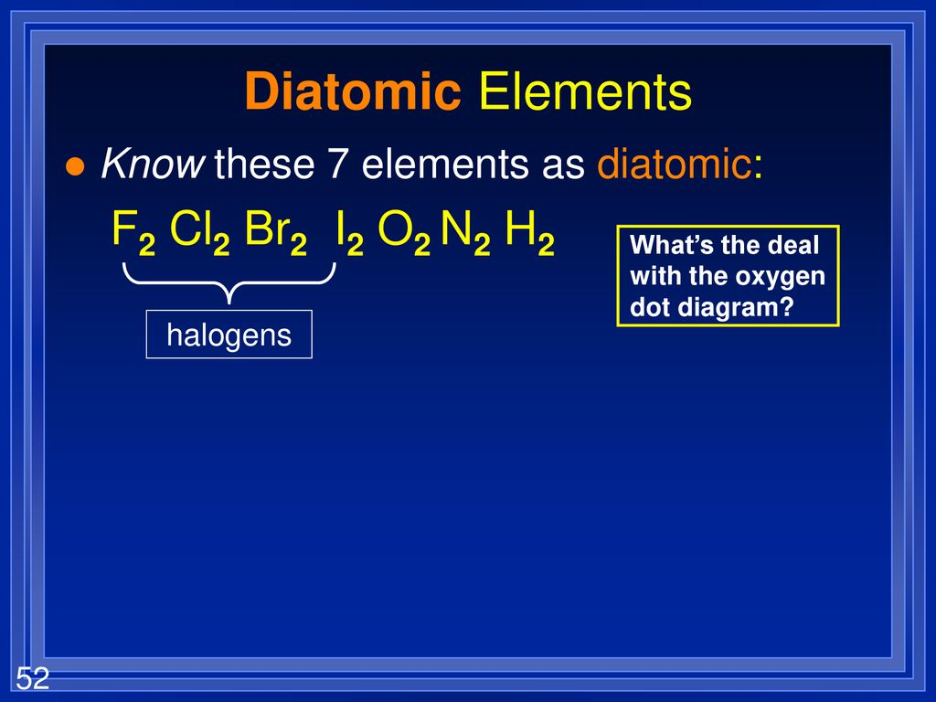 hight resolution of diatomic elements f2 cl2 br2 i2 o2 n2 h2