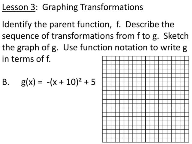23.23 Notes: Transformations of Functions - ppt download