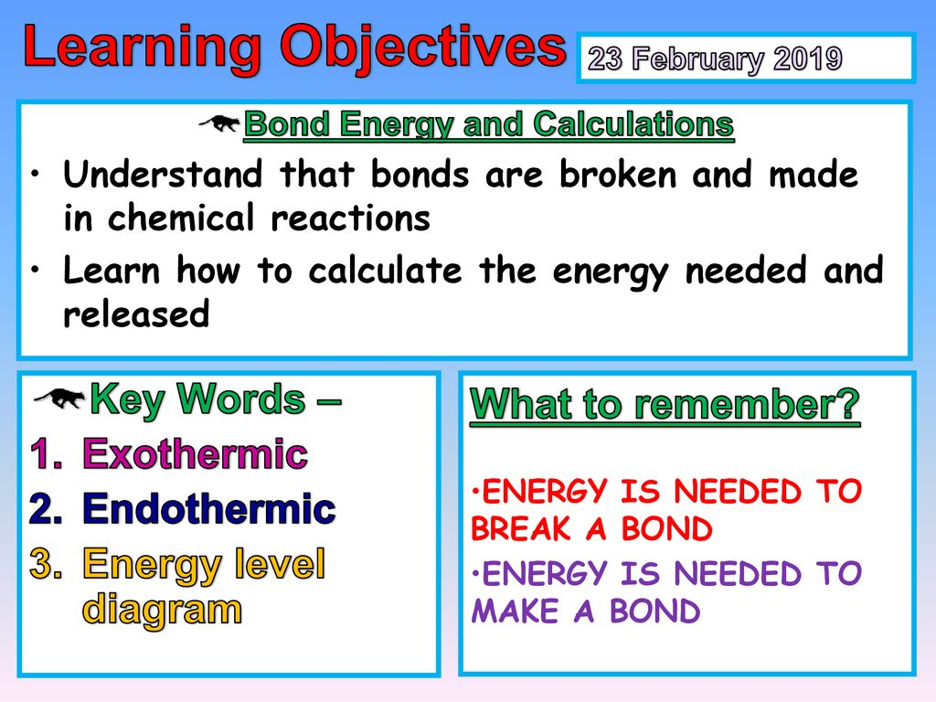 bond energy and calculations