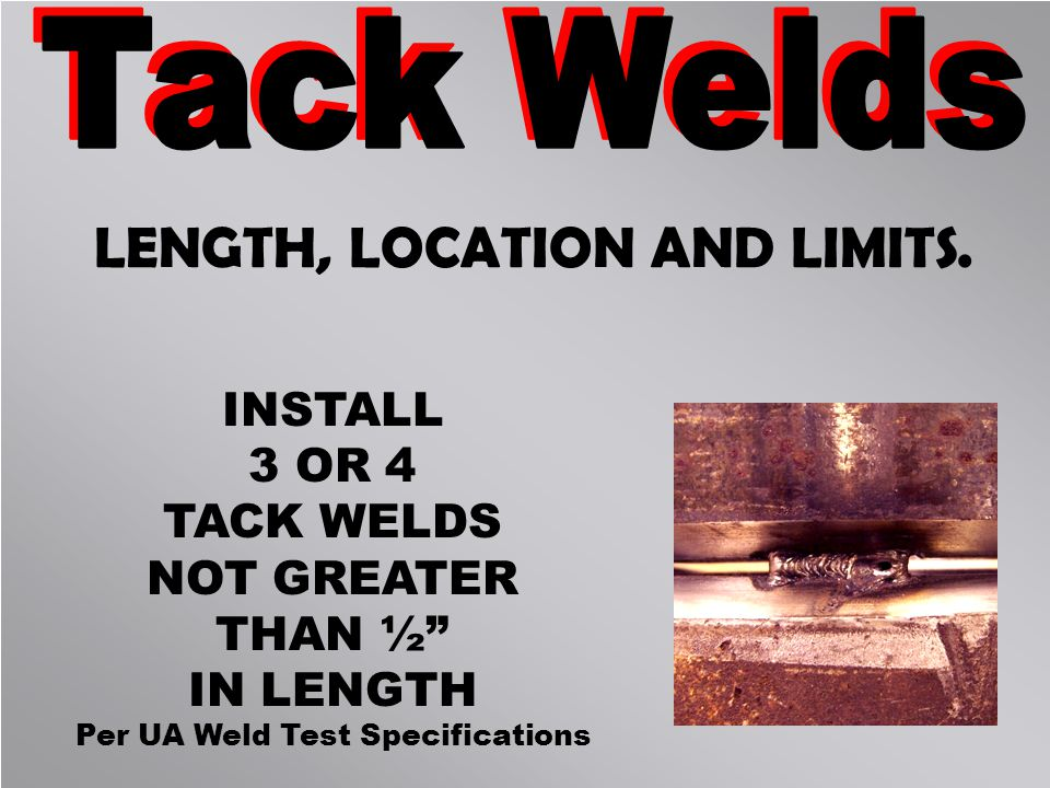 weld test specifications topics