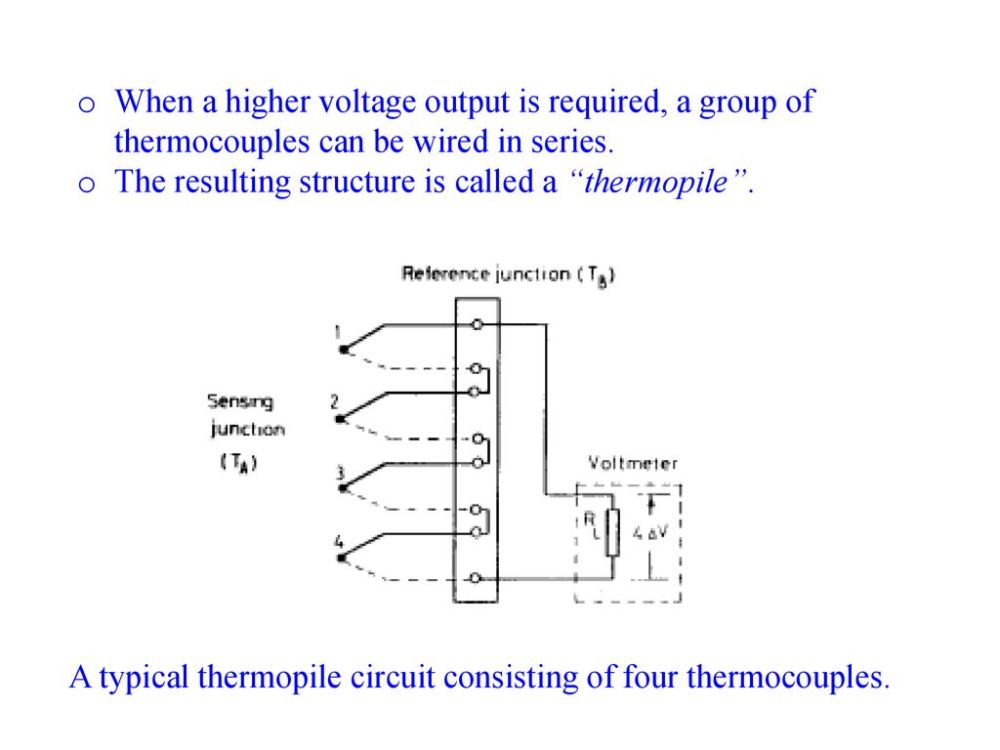 medium resolution of thermal sensors q mct where q is the amount of heat in j t is ac thermostat wiring schematic thermopile wiring diagram