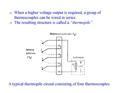 small resolution of thermal sensors q mct where q is the amount of heat in j t is ac thermostat wiring schematic thermopile wiring diagram
