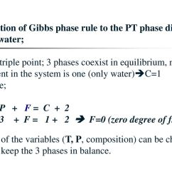 application of gibbs phase rule to the pt phase diagram of pure water  [ 1024 x 768 Pixel ]
