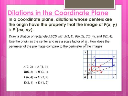 small resolution of 9.5 Dilations. - ppt download