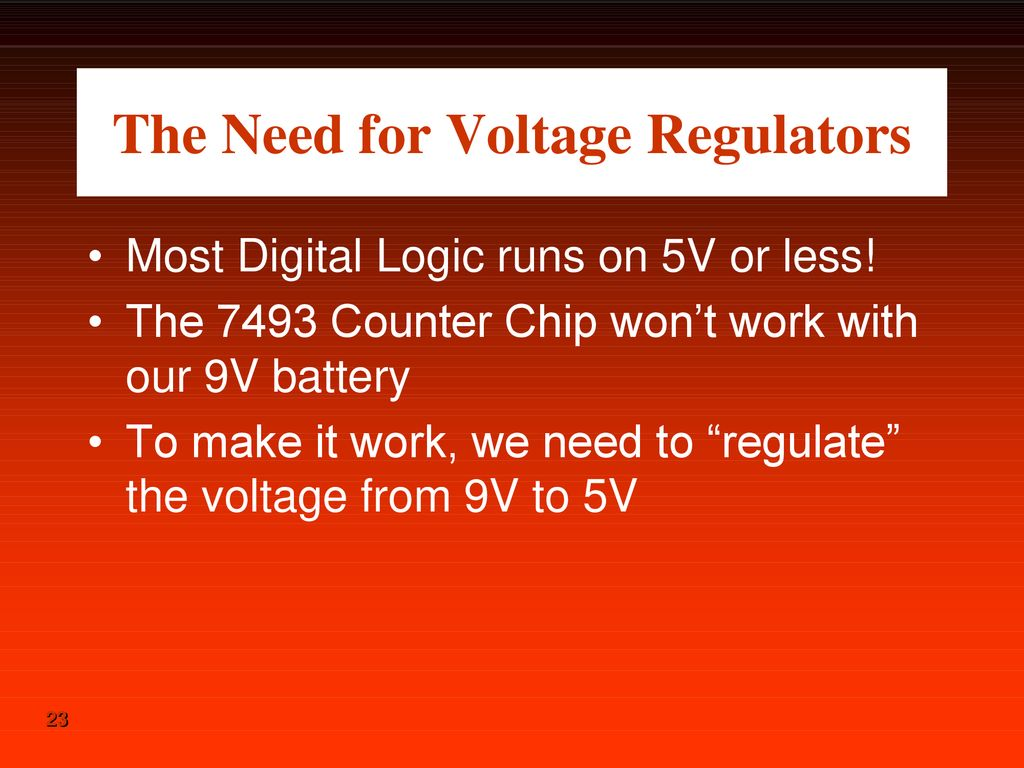 hight resolution of the need for voltage regulators