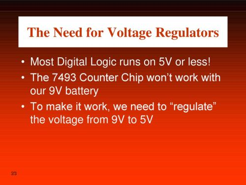 small resolution of the need for voltage regulators
