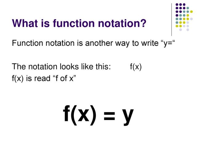 Function Notation. Function Notation What is function notation