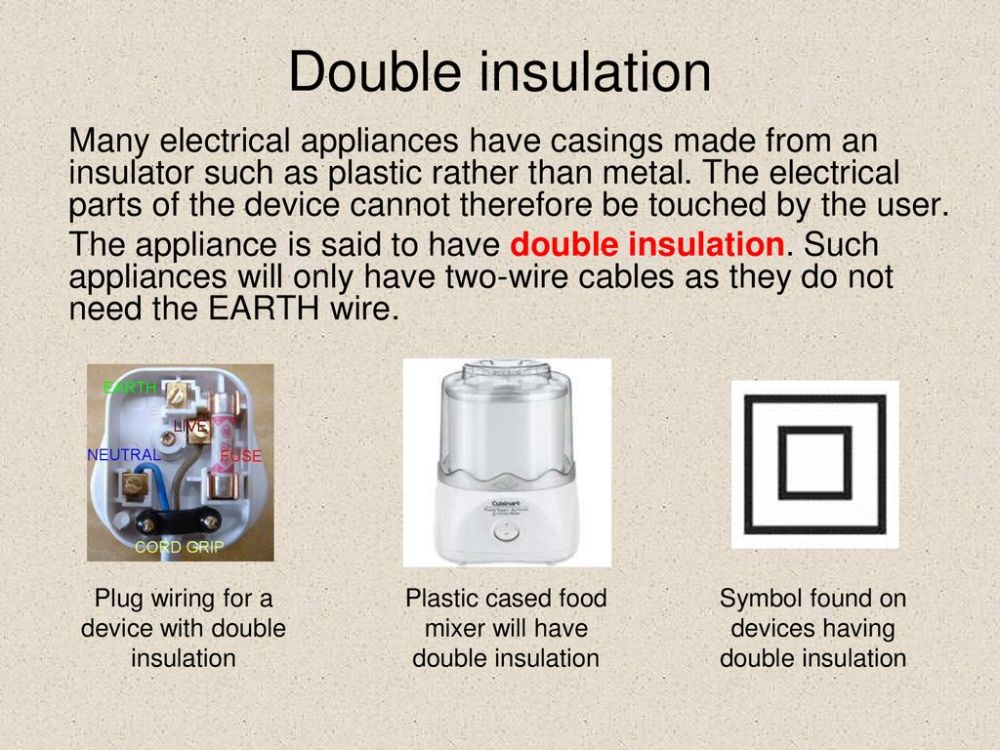 medium resolution of wiring a double insulated plug wiring diagram database mains electricity ppt download wiring a double insulated