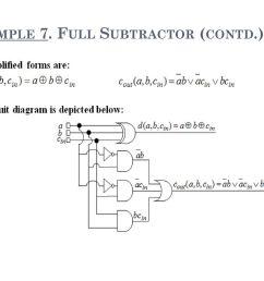 full subtractor contd  [ 1024 x 768 Pixel ]