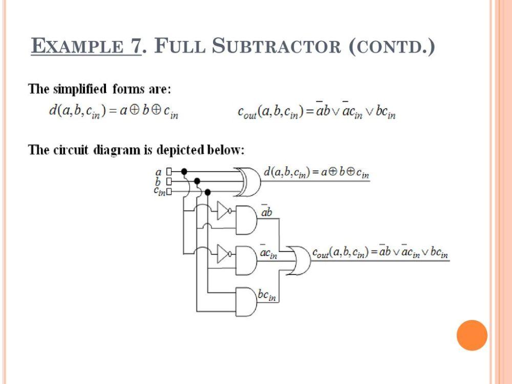 medium resolution of full subtractor contd