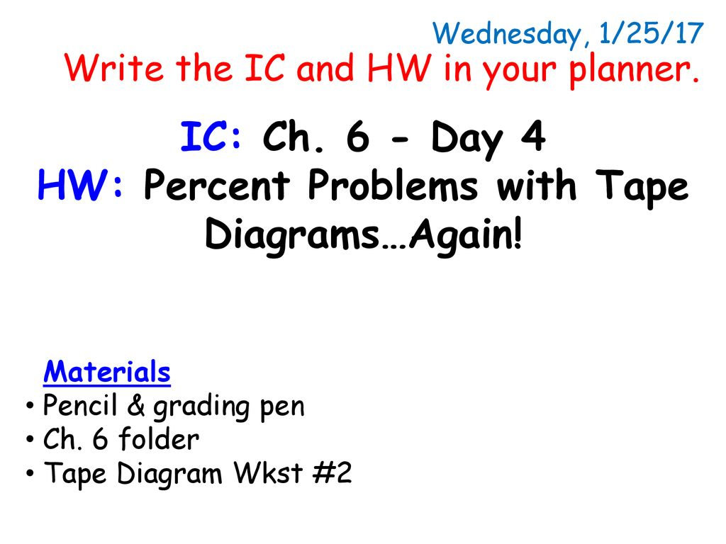 hight resolution of hw percent problems with tape diagrams again