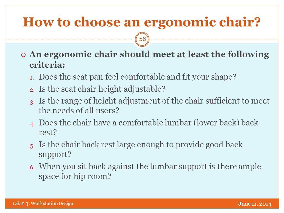 ergonomic chair criteria stidd accessories workstation design lab ppt download how to choose an