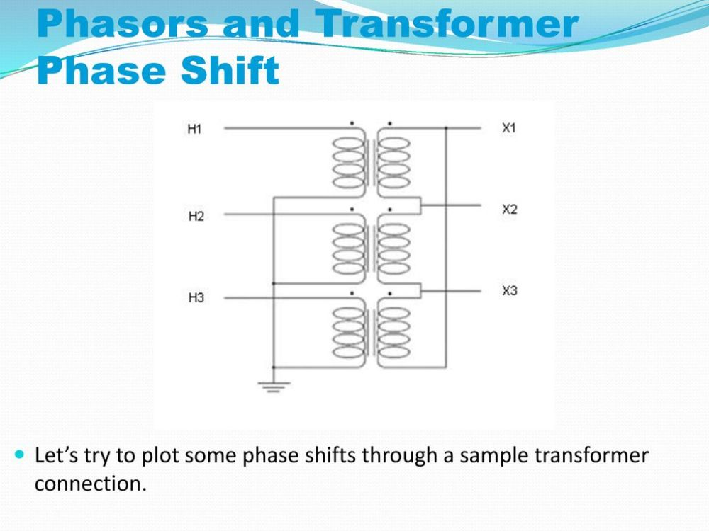 medium resolution of phasors and transformer phase shift