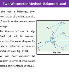 two wattmeter method balanced load [ 1024 x 768 Pixel ]