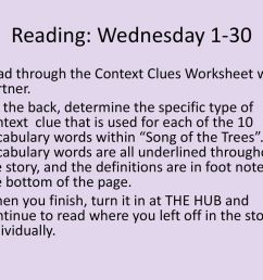 Reading: Monday 1-28 I.J. 10 Turn in your Chunking Text Worksheet packet if  you haven't already. On Friday [ 768 x 1024 Pixel ]