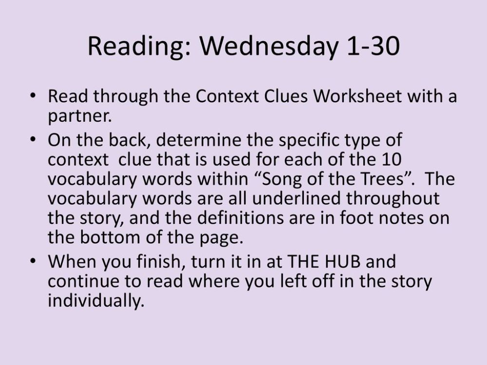 medium resolution of Reading: Monday 1-28 I.J. 10 Turn in your Chunking Text Worksheet packet if  you haven't already. On Friday