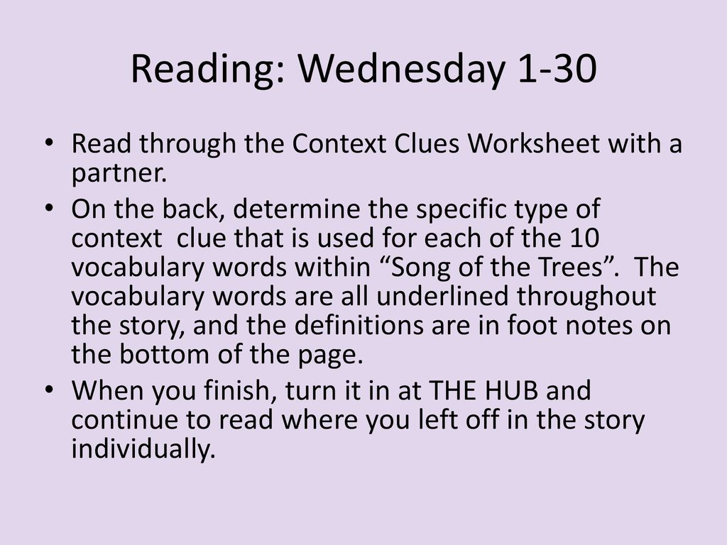 hight resolution of Reading: Monday 1-28 I.J. 10 Turn in your Chunking Text Worksheet packet if  you haven't already. On Friday