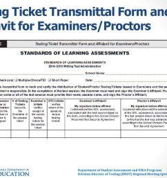 35 testing ticket transmittal form and affidavit for examiners proctors [ 1024 x 768 Pixel ]