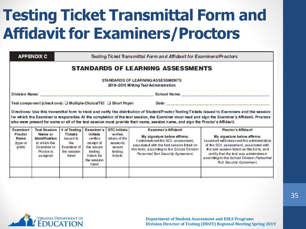hight resolution of 35 testing ticket transmittal form and affidavit for examiners proctors