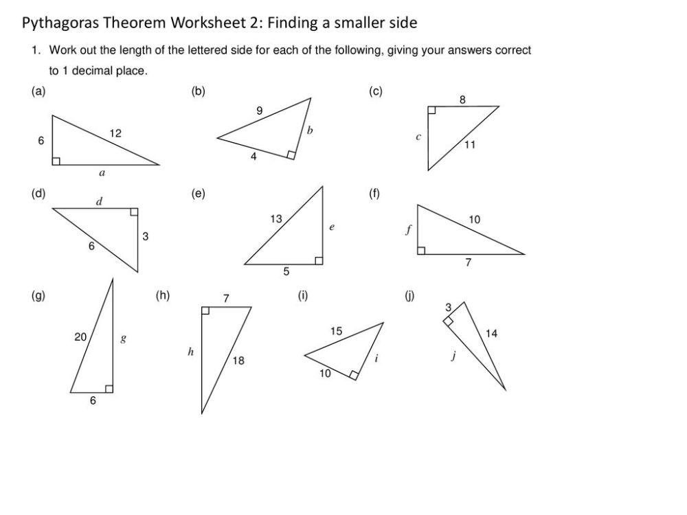 medium resolution of Pythagoras's Theorem Tuesday