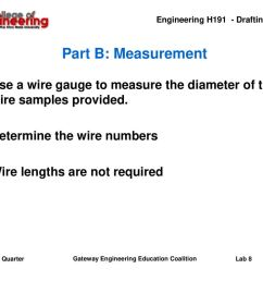 part b measurement use a wire gauge to measure the diameter of the wire samples [ 1024 x 768 Pixel ]