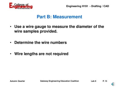 small resolution of part b measurement use a wire gauge to measure the diameter of the wire samples
