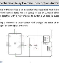 electro mechanical relay exercise description and schematic [ 1024 x 768 Pixel ]