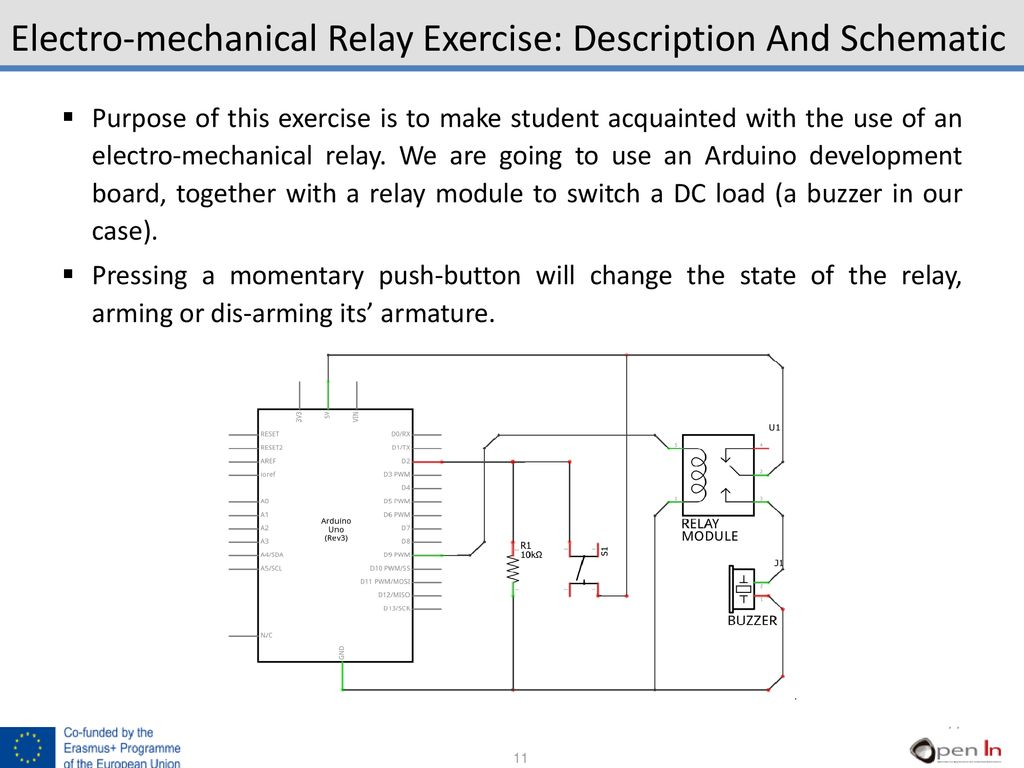 hight resolution of electro mechanical relay exercise description and schematic