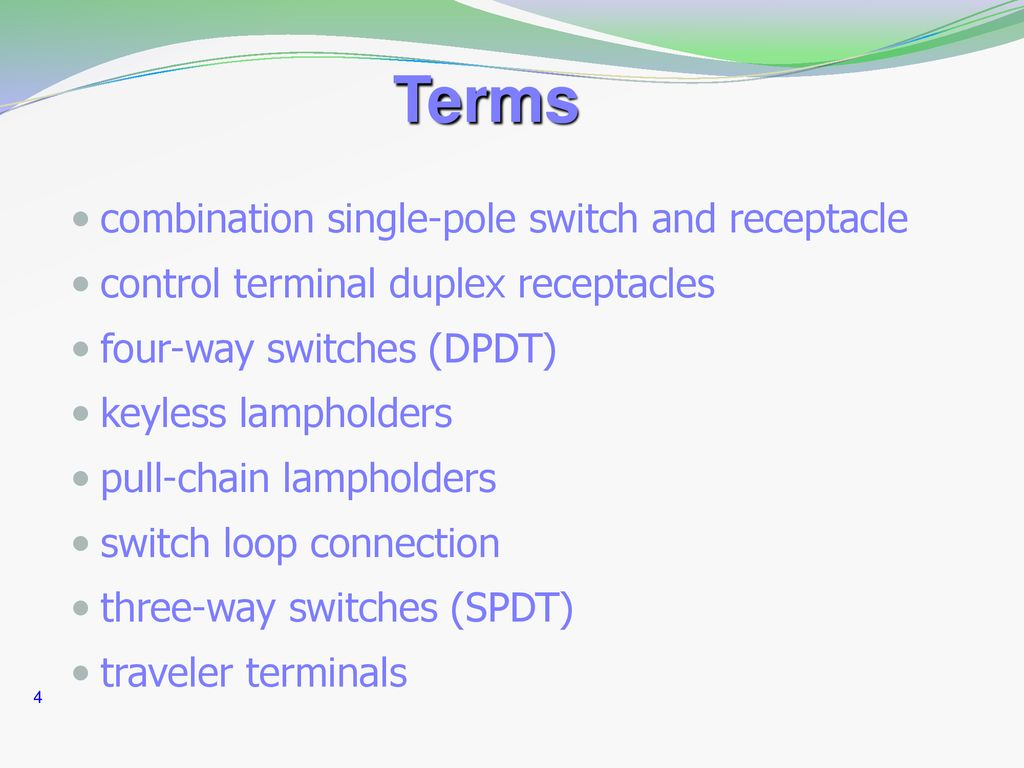 hight resolution of 4 terms combination single pole switch and receptacle