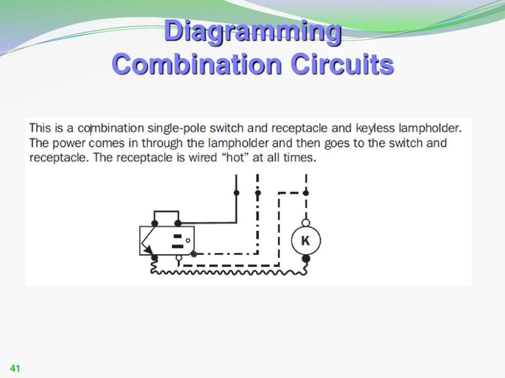 medium resolution of single pole combination switch receptacle diagram