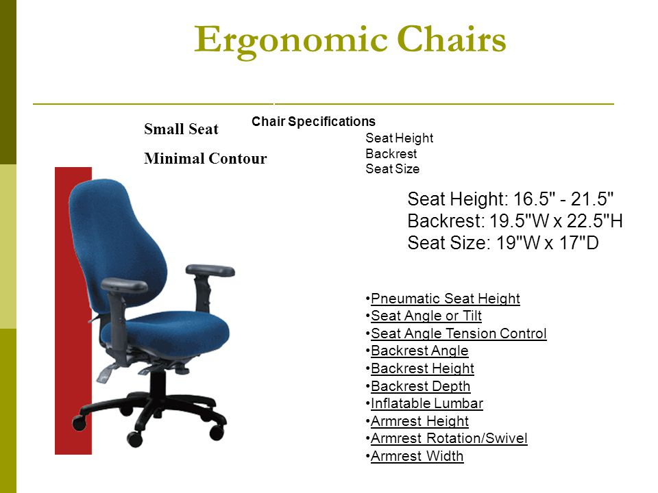 ergonomic chair angle cane bistro chairs office ergonomics ppt download 22