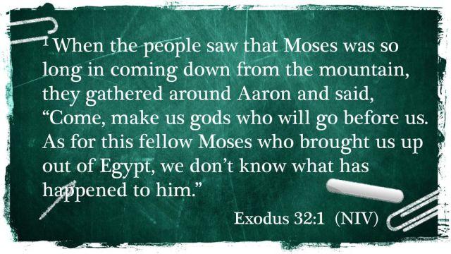 The Audacity of Apostasy Exodus 32: ppt download