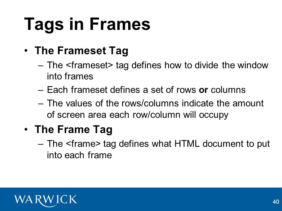 Frame Tag Html Example | Framess.co