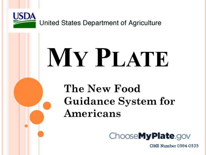 Myplate Food Guidance System Foodstutorial Org