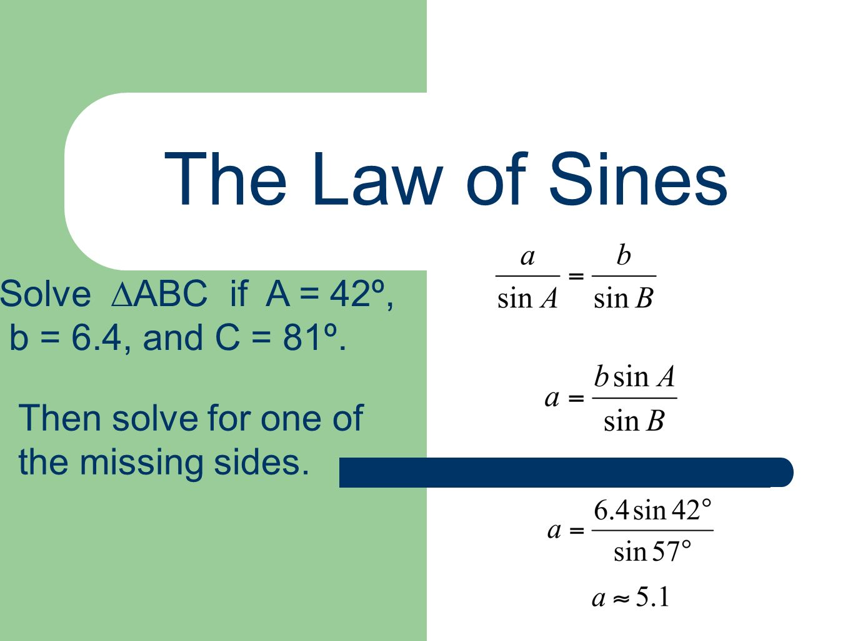 Worksheet Law Of Sines A 6 2