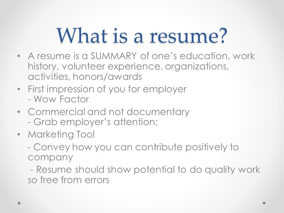 How to write an effective resume - ppt video online download