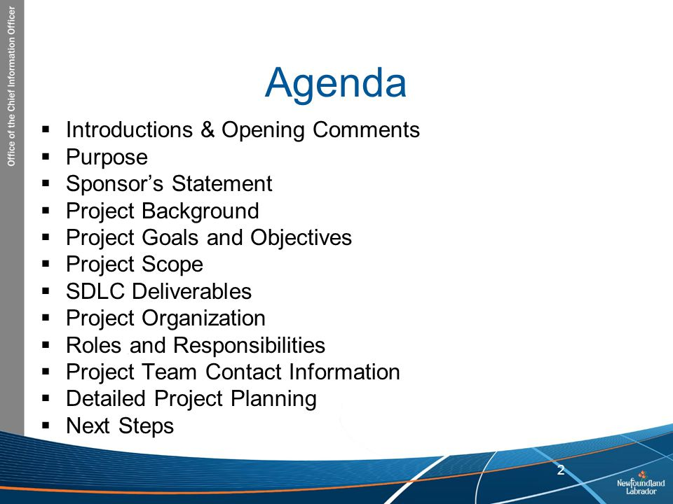 project manager objective statement