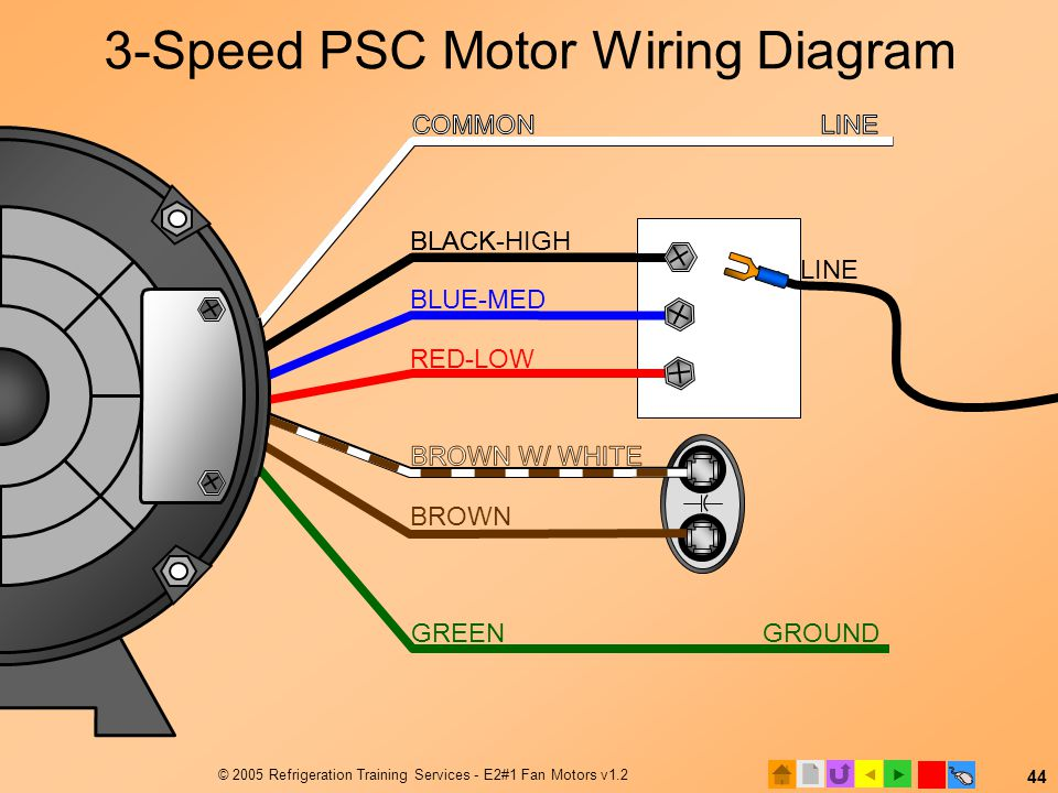 wiring diagram for psc motor