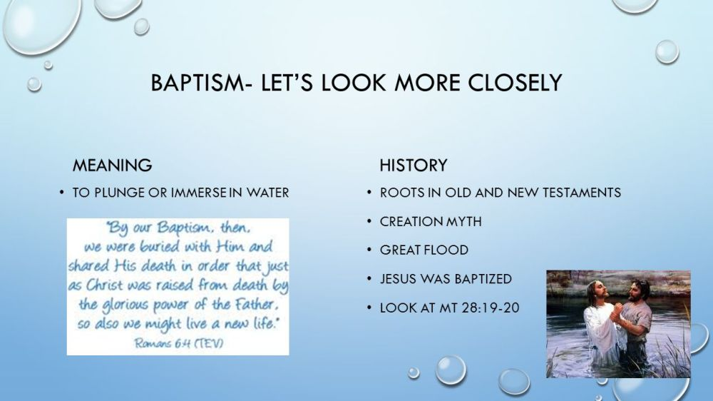medium resolution of 3 baptism