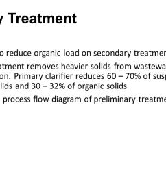 primary treatment objective to reduce organic load on secondary treatment processes  [ 1280 x 720 Pixel ]