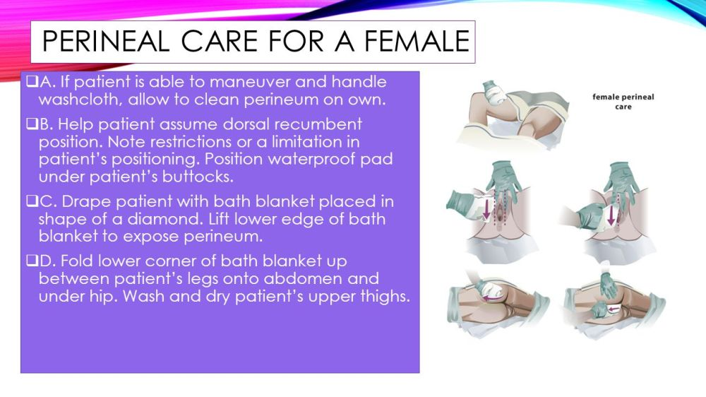 medium resolution of perineal care for a female