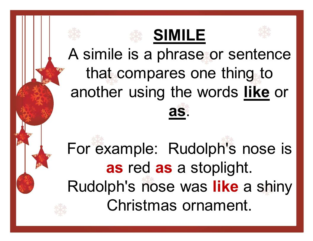 CHRISTMAS SIMILES & METAPHORS Ppt Video Online Download